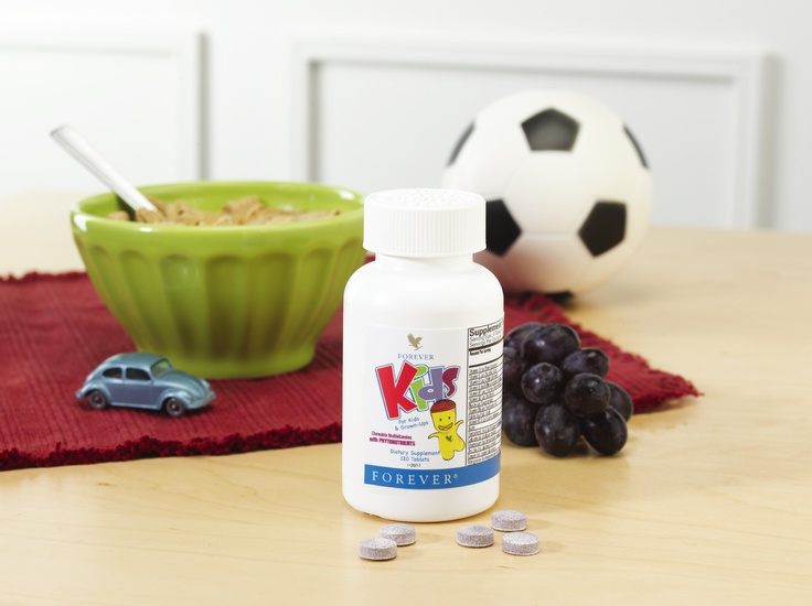 Grape flavored multivitamins for the kids. Get the day started right!