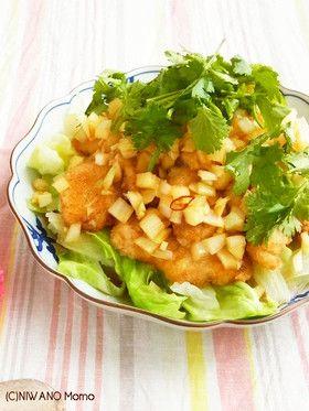 鶏むね肉で作る♪油淋鶏 ユーリンチー by 庭乃桃 [クックパッド] 簡単 ...