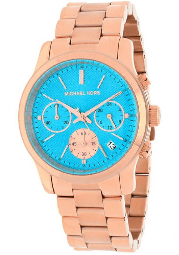 Michael Kors Watches Runway Chronograph Stainless Steel Watch MK6164