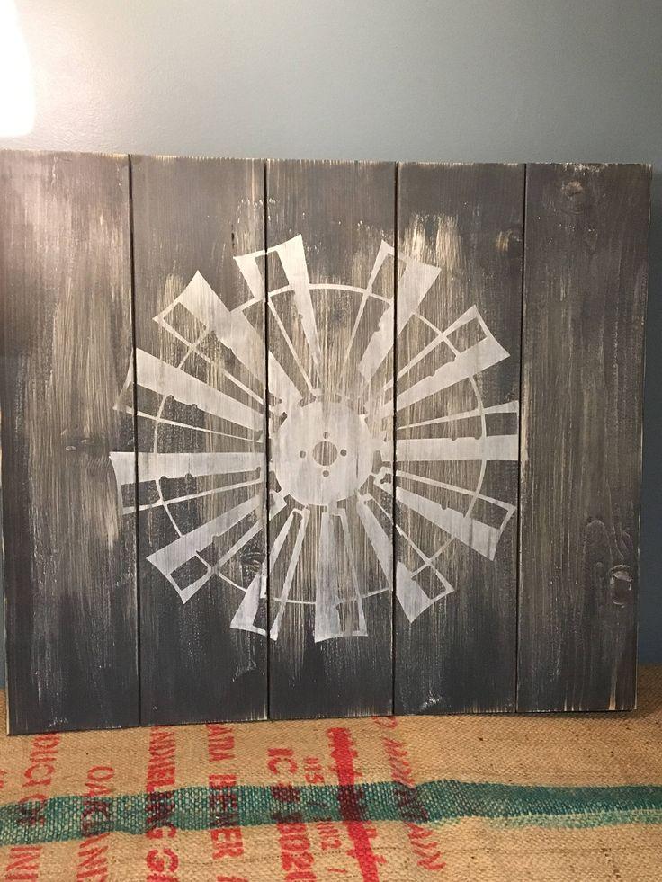 WINDMILL ART/Wood Windmill/Magnolia Home Decor/Farmhouse Style/Farmhouse Decor/ by WebbsWeWeave on Etsy