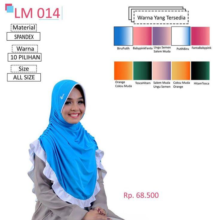 LM 014 Lamia Hijab - Kerudung Bergo Syar'i bahan kualitas premium, nyaman dipakai dan anti gerah. Material : Spandex. Size : All Size. #lamiahijab #hijabindonesia #kerudunginstan #bergo