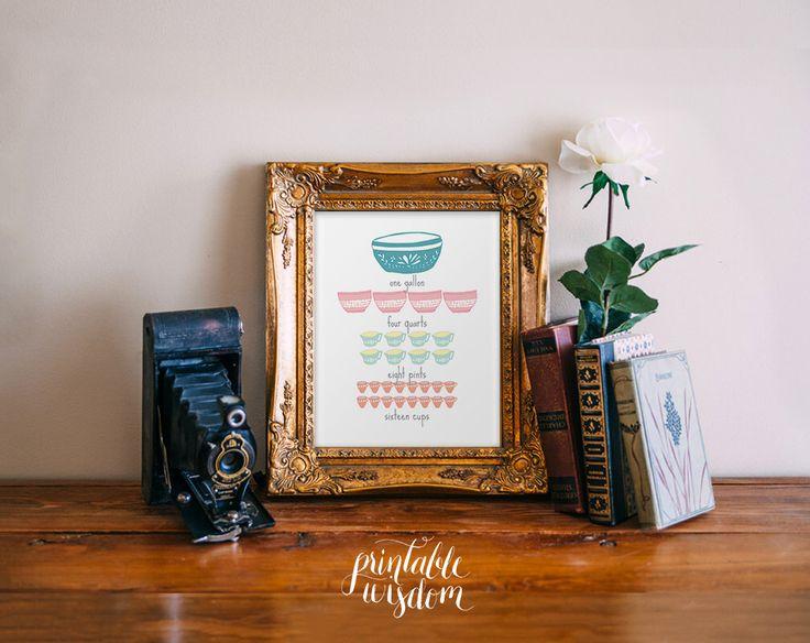Kitchen Measurements Art  Printable by PrintableWisdom https://www.etsy.com/listing/125070906/instant-download-kitchen-measurements