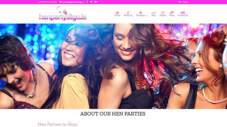 http://www.henpartysligo.ie - website for hen parties in Sligo, designed and built by www.format.ie web design