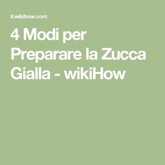 4 Modi per Preparare la Zucca Gialla - wikiHow