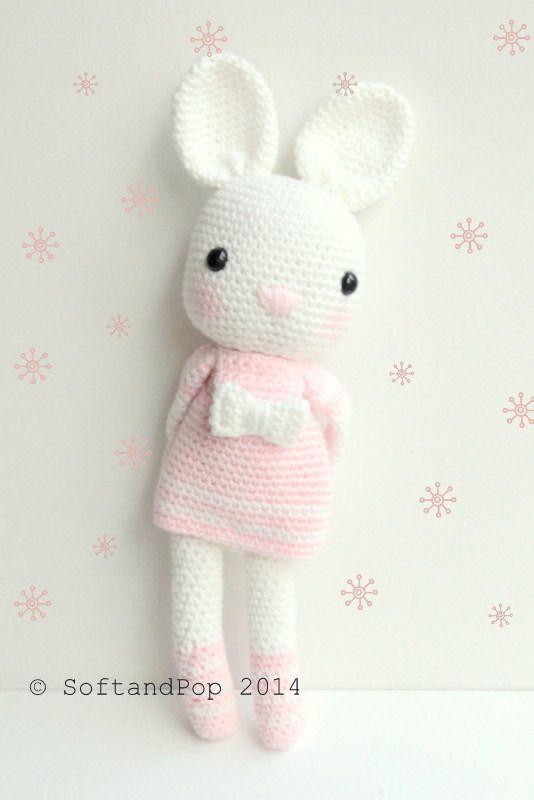 Amigurumi - Lapin au crochet - Prêt à expédier : Jeux, jouets par softandpop -  45 €