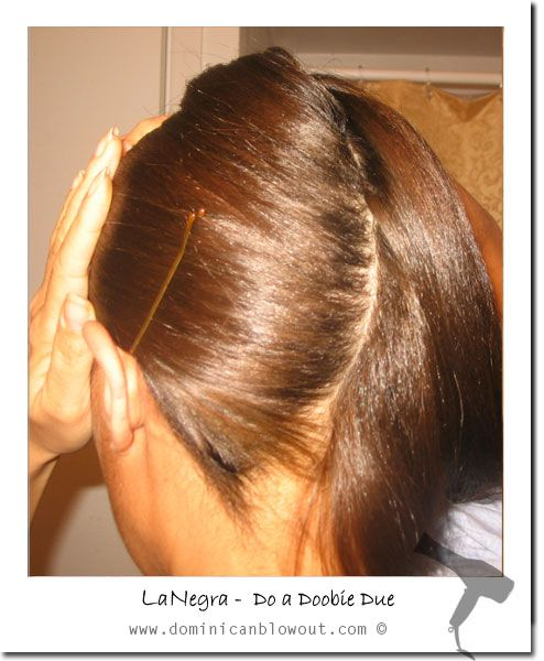 dominican blowout_doobie tutorial--I never knew you start with a part in your hair!