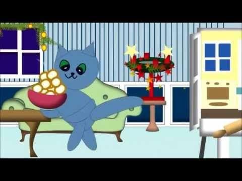"""Adventslied für Kinder mit Kätzchen Molli-Miez : Molli Miez, Zeichentrick Animation : """"Guten Abend, schön Abend, es weihnachtet schon"""""""