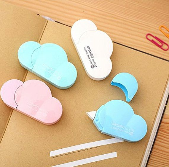 Kawaii Cloud Correction Tape by CaribouMilk on Etsy