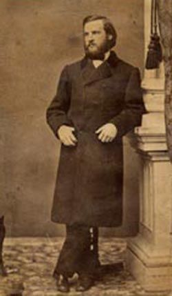 Gilded Age President Cleveland, as a young man, served two terms in office. Via: Past Imperfect