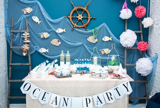 День рождения в морском стиле оформление своими руками