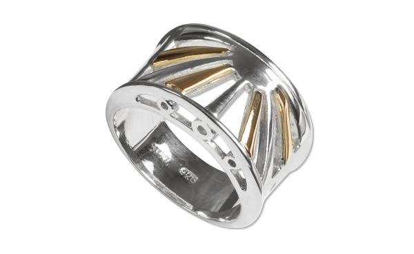 Кольцо Zanfeld, серебро 925 пробы, золото 585 пробы. Zanfeld ring, sterling silver, gold.