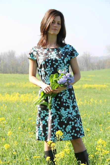 Amy Butler's Belle Fabrics on The Staple Dress by April ...