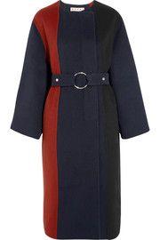 MarniPaneled brushed wool, angora and cashmere-blend coat