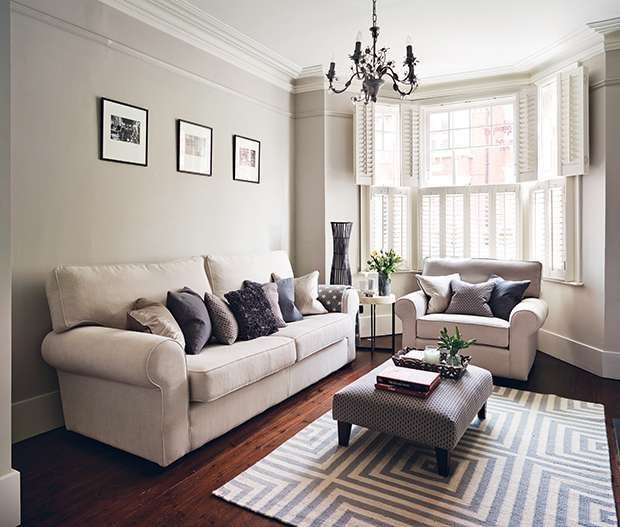 Possible layout for sofas, love shutters.