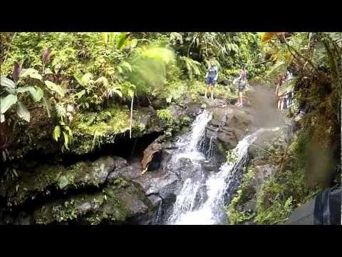"""Tahiti Hike """"les Lavatubes de Hitiaa"""", 600 meters altitude on the Est Cost. 1/2 hour 4*4, the adventure starts . A medium hike"""