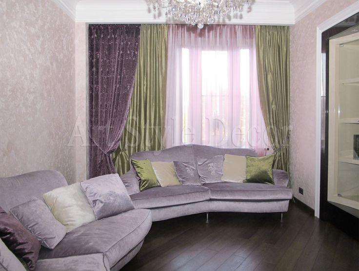 Шторы для гостиной из бархата и натурального шелка, тюль с эффектом хамелеон #curtains
