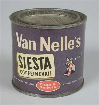 Van Nelle's Siësta Koffie, cafeïnevrij, oploskoffie.)