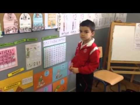 Tabla numérica en Infantil 5 años