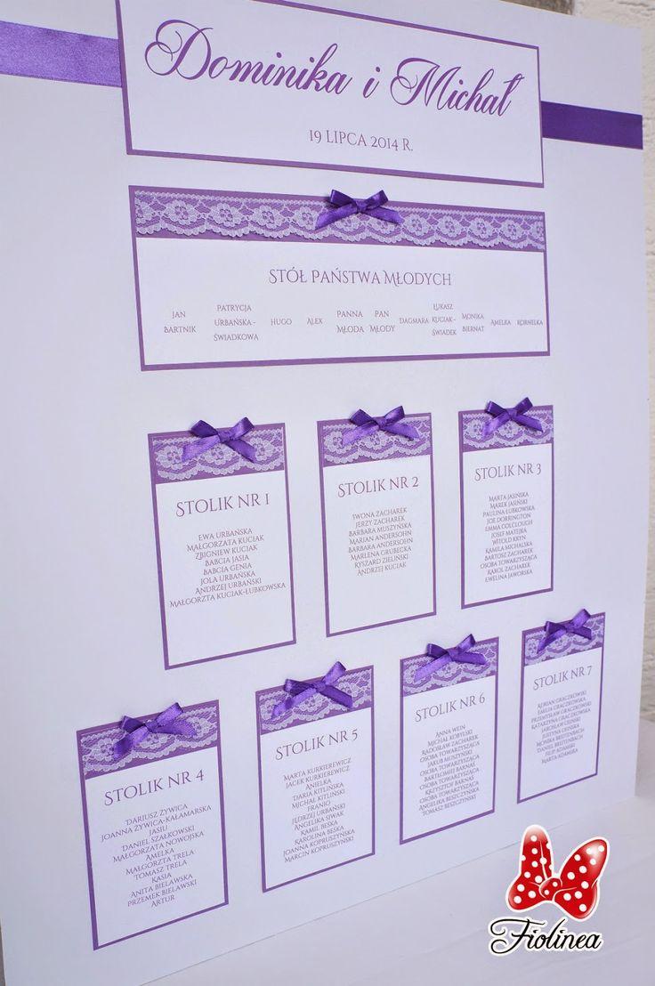 Fiolinea - Ślubna Galanteria Papiernicza: Fioletowo-koronkowo na Pomorzu