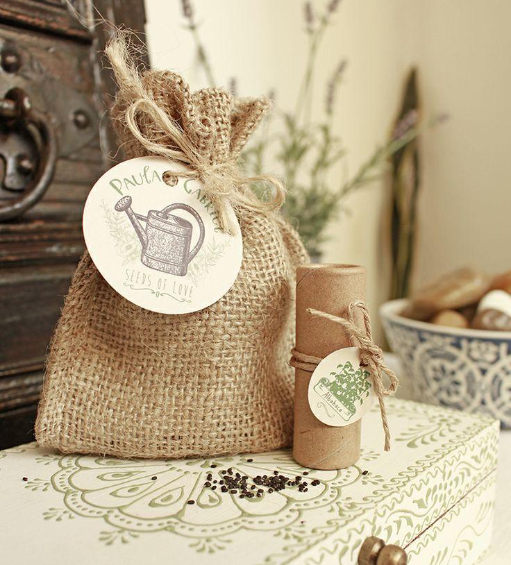 Saquito con semillas a elecci n incluye saco arpillera - Saco arpillera ...