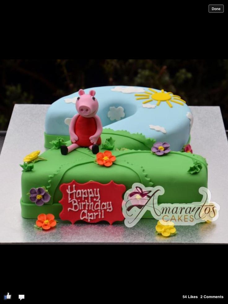 Peppa Pig cake @ Amarantos