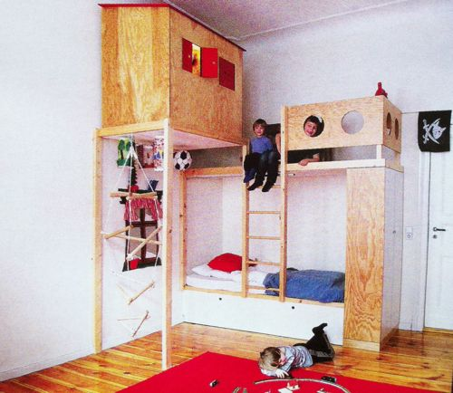 kids bed play area