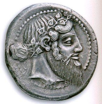 Νάξος, Σικελία. Αργυρό τετράδραχμο περ. 460 π.Χ. Διάμετρος 29,5 χιλιοστά. Νομισματική Συλλογή Alpha Bank