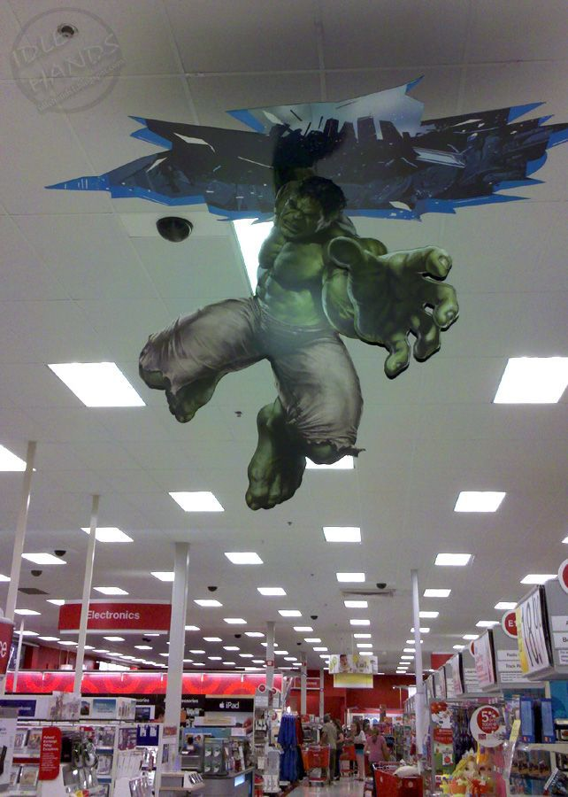 In-Store Theatre - POS Display - Ceiling Graphic - The Hulk