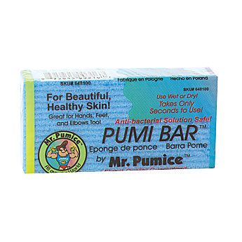 Mr. Pumice Pumi Bar; best pumice bar!! Works wonders on the dead skin on feet