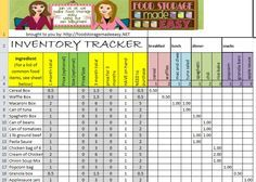 Food Storage Inventory Spreadsheets You Can Download For Free - Prepared Housewives