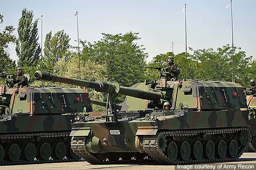 T-155 Firtina is a Turkish variant of the K9 Thunder 155mm self-propelled howitzer. - Image - Army Technology