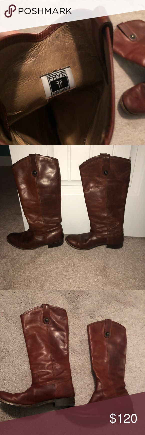 Frye Melissa Boots GUC Frye Melissa Boots. Definitely some wear, but still holding up in good condition. Frye Shoes Winter & Rain Boots