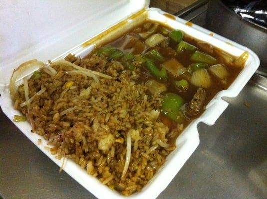 pepper steak with pork fried rice | First Chop Suey - Pepper steak and shrimp fried rice; yummy delicious ...
