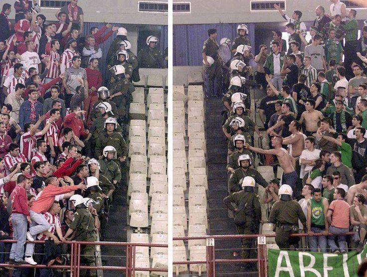 Gate 7 vs Gate 13 Podosfairiki Anonymi Etaireia Olympiakos Syndesmos Filathlon Peiraios Panathinaikos #ultras