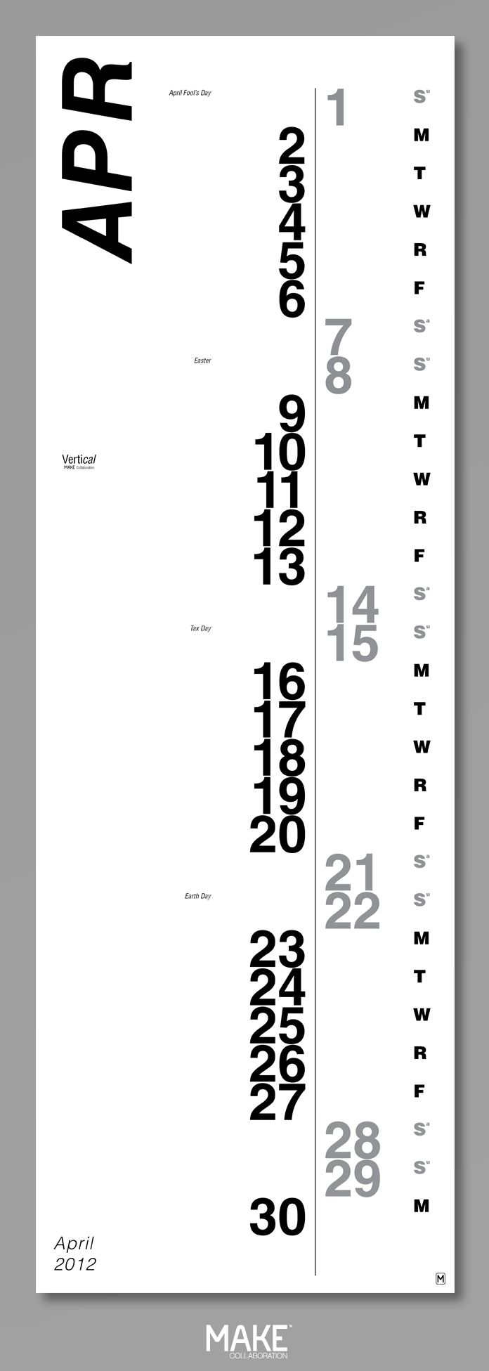 Vertical Calendar Design : Great ideas about calendar on pinterest paint chip