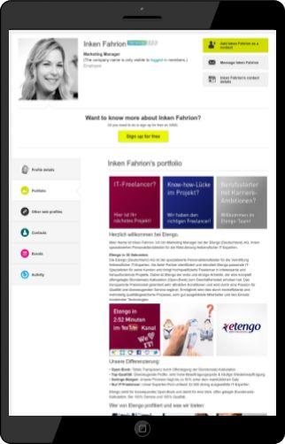 #XING Profil Portfolio der #Etengo (Deutschland) AG