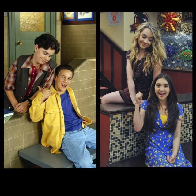 Boy Meets World - Shawn and Cory - Girl Meets World - Maya and Riley - Then and Now -