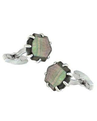 Loren Silver Cufflinks in Black Pearl - Kendra Scott Jewelry.
