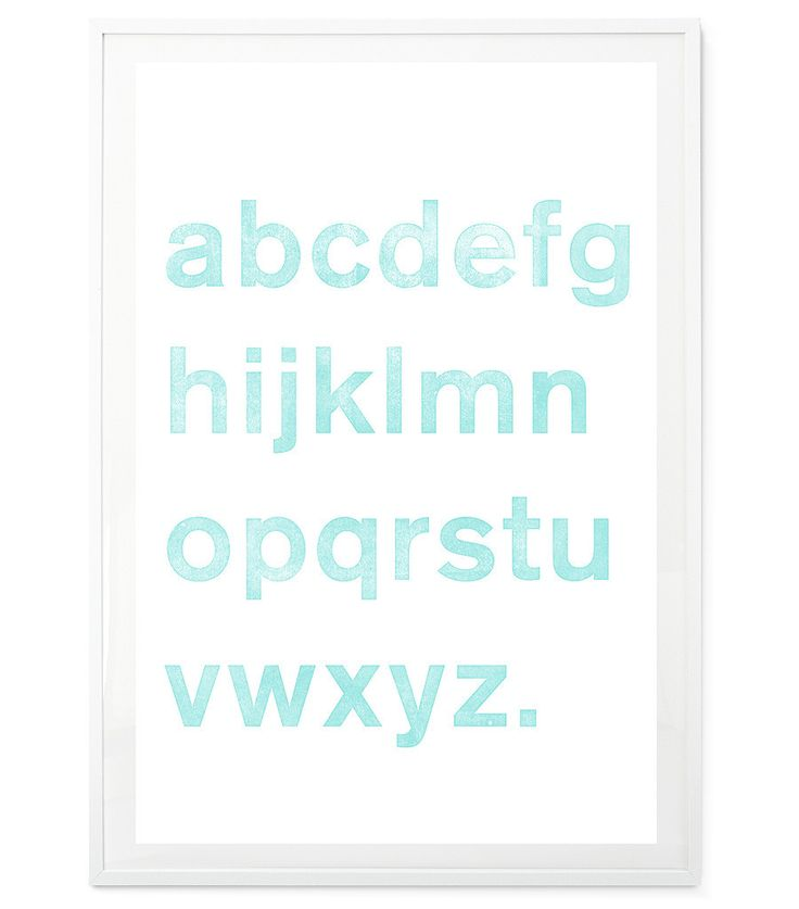 Akzidenz Alphabet Turquoise – Egan and Well