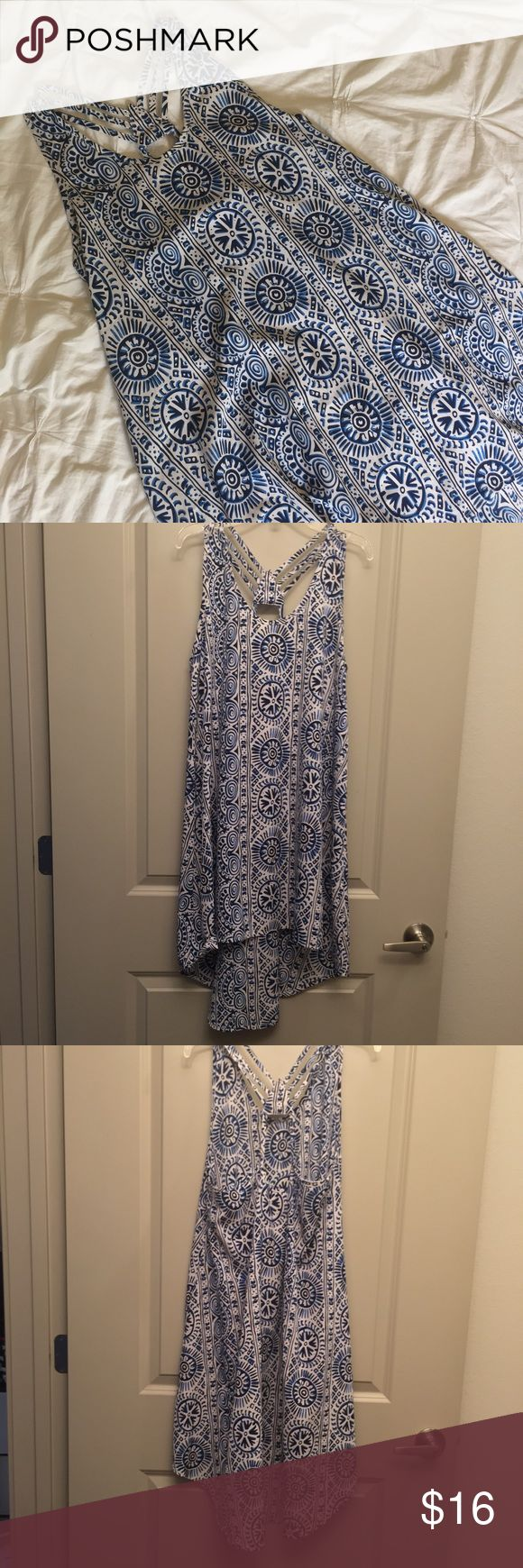 Beachy Patterned Dress Listing includes one dress from Mint Julep Boutique. Open to reasonable offers. Mint Julep Boutique Dresses Midi