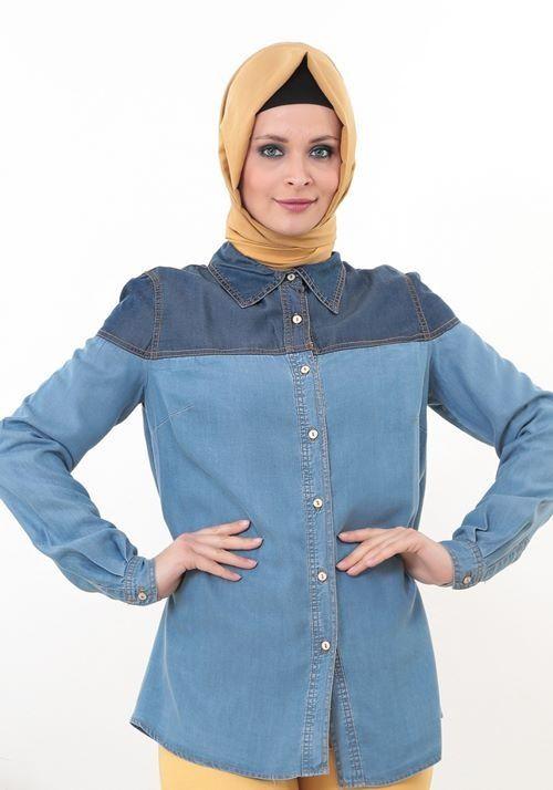Kot kumaşı ile yaza uygun Nursima Kot Gömlek 24,90 TL [Nursima 1391 Kot Gömlek] http://www.zerafettesettur.com/index.php?B=Yeni #InstaSize #moda #tasarım #tesettür #giyim #fashion #ınstagram #etek #tunik #kap #kampanya #woman #alışveriş #özel #zerafet
