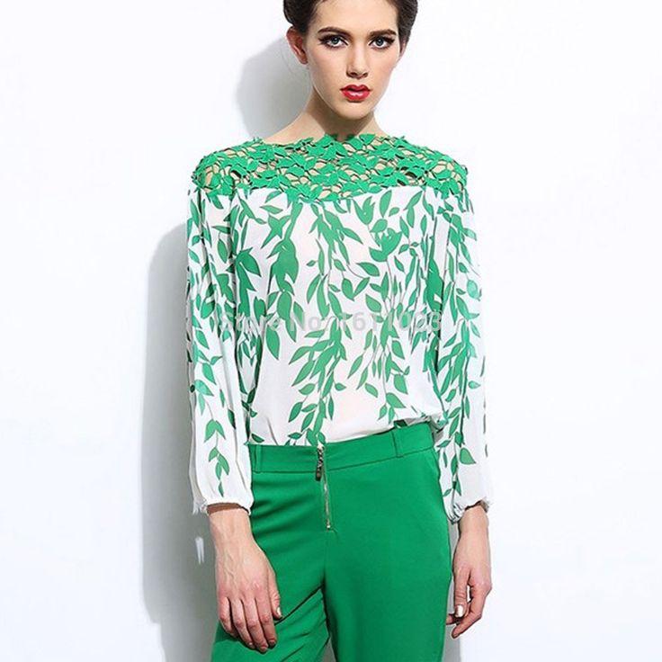 Блузки и рубашки шелковая блузка женщины с крючком узор швейные в стиле кантри рубашки E2shopping