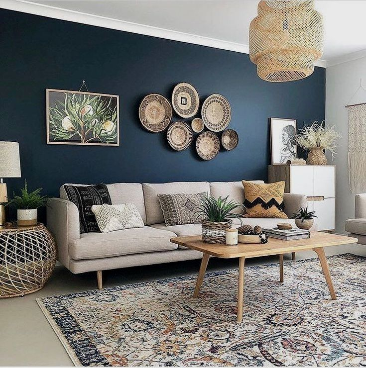 Own A Boring Living Room Get And Save Inspired With Our Accent Wall Ideas In Wood Paint Accent Walls In Living Room Blue Accent Walls Boho Living Room Decor #wood #accent #wall #ideas #living #room
