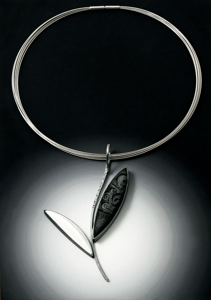 50 best grace stokes designsjewelry images on pinterest black and white leaf pendant oxidized sterling silver and polymer clay mozeypictures Images