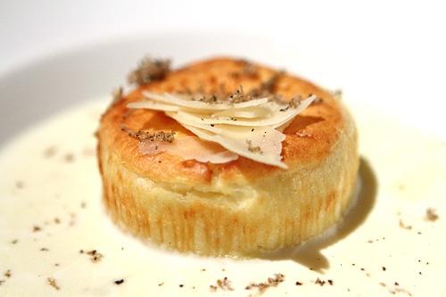 Payard Cheese Soufflé. http://lasvegasblog.harrahs.com/las-vegas-casinos/caesars-palace/the-prix-fixe-is-in-at-payard-bistro/ Recipe:  http://abcnews.go.com/GMA/recipe?id=7182842