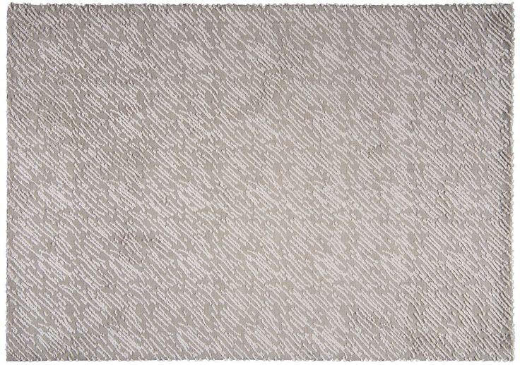 Tapis en viscose et polyester tricoté Hurican silver 170x240 - Decotaime