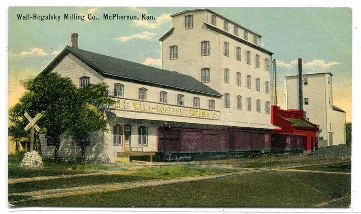 Wall Rogalsky Milling Co Mill Elevator McPherson Kansas 1910c postcard