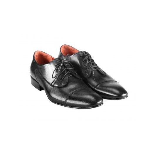Pánske kožené spoločenské topánky čierne PT154 - manozo.hu