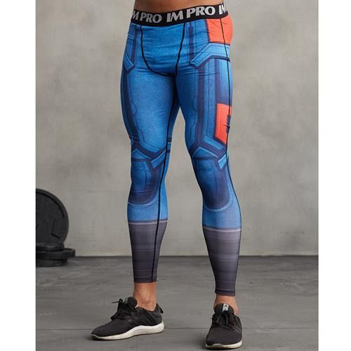 3D Printed Pattern Compression Tights Pants Men Sweatpants Fitness Skinny Leggings Trousers Male Cloth 2017