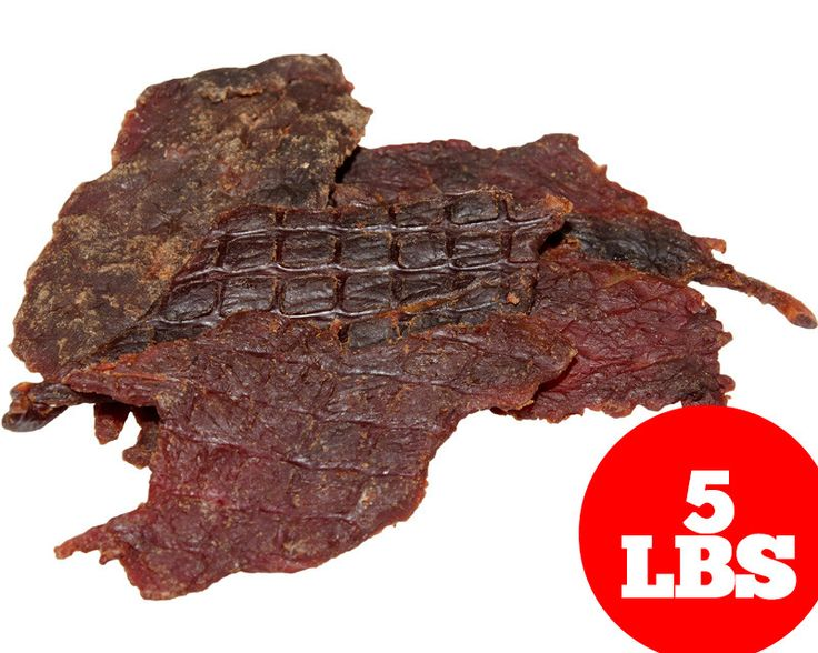 (5lb) Bulk Beef Jerky - Honey BBQ Flavor - Whole Muscle, Thick Cut